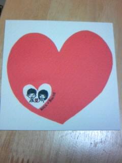 バレンタインカードできました!