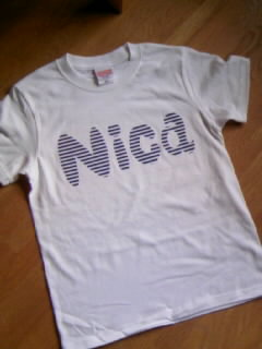ニカTシャツできました☆